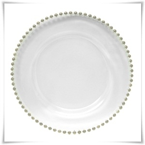 Clear Beaded Glass Charger Plates £2.20 each