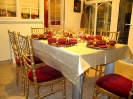 Gold Chiavari Chairs - Intimate Christmas Lunch Party
