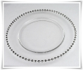 Clear Beaded Glass Charger Plates(SILVER) £2.20 each
