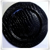 Black Leather Croc Charger Plate £1.25 each
