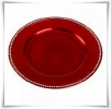 Red Diamanté Charger Plate - £1.25 each